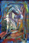 Mime, 50 x 35 cm, Öl auf Leinwand, auf Karton, / Besitz des Künstlers /