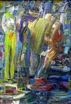 Nach der Vorstellung, 50 x 35 cm, Öl auf Leinwand, auf Karton, / Besitz des Künstlers /