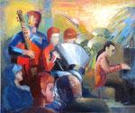 Jazz, 100 x 120 cm, öl auf Leinwand
