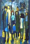 Sommerregen, 100 x 70 cm, Acryl auf Leinwand