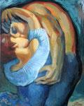 Der Kuss, 50 x 40 cm, Öl auf Leinwand