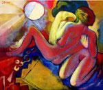 Die Magie der Liebe, 70 x 80 cm, Acryl auf Leinwand