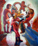 Das Lied, 120 x 100 cm, Öl auf Leinwand