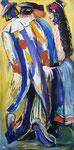 Karneval, 110 x 55 cm, Öl, Acryl auf Leinwand