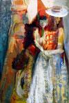 Karneval-2, 120 x 80 cm, Acryl auf Leinwand