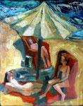 Sommerregen, 50 x 40 cm, Öl auf Leinwand, / verkauft /