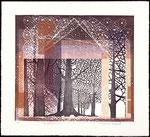 Scintillement, 2010, bois gravé et relief, 35 X 38 cm