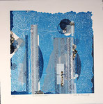 Envoûtements, 2013 relief ( mousse ) et collage, 38,5 X 38,5 cm