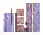 Autres moments, 2007, bois gravé et relief, 38 X 46 cm