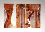 Feston, 2013, relief ( mousse ) et gaufrage, 41 X 57 cm