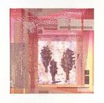 Réflexion, 2010, Collagraphie et relief, 38,5 X 38 cm
