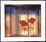 De doux souvenirs, 2010, collagraphie et relief, 35 X 38 cm