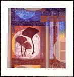 Entours, 2010 collagraphie et relief, 38,5 X 38 cm