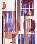 Jardin, au couchant, 2009 relief, 66 X 56 cm