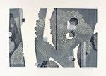 Dentelures, 2013, relief et gaufrage, 40,5 X 57 cm