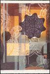 Circus rosé, 2011, bois gravé et relief, 34,5 X 23,5 cm