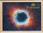 フェリクス星雲 (¥600,000 税抜き)額付きアートサイズ(1009mm×709mm) レンタルアート可(Eサイズ)