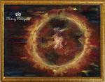 太陽 (¥300,000 税抜き) 額付きアートサイズ(790㎜×605mm)レンタルアート可(Eサイズ)