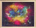 カシオペア座A レンタルアート(Bサイズ)販売価格(額付き¥150,000 税抜き)