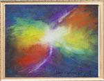 ブーメラン星雲  レンタルアート(Bサイズ)販売価格(額付き¥150,000 税抜き)
