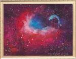 チューリップ星雲 レンタルアート(Bサイズ)販売価格(額付き¥150,000 税抜き)