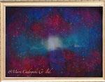 葉巻銀河 (¥600,000 税抜き)額付き アートサイズ(1009mm×709mm) レンタルアート可(Eサイズ)
