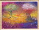 宇宙の木 レンタルアート (Bサイズ)販売価格(額付き¥150,000 税抜き)