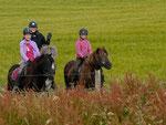 Ab 9.00 Uhr starteten die Reiter zu zweit oder zu dritt zu ihrem Orientierungsritt durch den schönen Hunsrück. Dabei ging es nicht um Schnelligkeit.