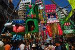 展覧会期間中は、平塚の七夕祭り真っ最中。
