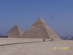 The Great Pyramid is constructed of more than 2.25 million blocks of limestone, which weigh more than 2.75 tons each.