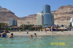 Swimming in the Dead Sea is tricky. It is simpler just to sit comfortably, supported by the water.