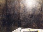 Création et réalisation d'un patine décorative en 3 tons avec motifs en impréssion .Restaurant Paris 8me
