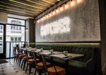 Enduit décoratif structuré pour restaurant-Restaurant Paris 8 Saint Honoré -