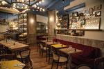 Enduit structuré et patiné-Café Brasserie Paris 10 -