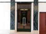Création et réalisation d'une imitation marbre vert des pyrénées-Hall d'entrée paris 16-