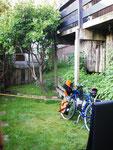 Garten des Hostels