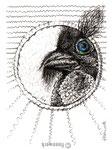 kartenvogel8, zeichnung