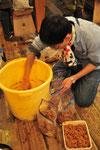 津久井在来大豆で仕込んだ種取り隊のおみそ。これもああまくて絶妙の出来でした。