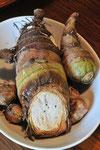 海老芋。里芋とは一味違う上品な味わい。皮のついたままを石窯で素焼きしました。