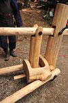 金具はワイヤーウインチに使われていたものを切断して再利用
