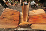 道具類にも柿渋を塗ります。