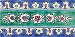 Orientalische Fayencen, keramische Wandfliese // Dekor: Samarkand F 10x20 cm