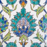 Orientalische Fayencen, keramische Wandfliese / Dekor: PALMYRE  20x20 cm