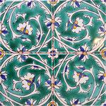 Orientalische Fayencen, keramische Wandfliese // Dekor: BABYLON 20x20 cm