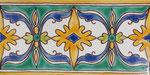 Orientalische Fayencen, keramische Wandfliese // Dekor: Constantine F 10x20 cm