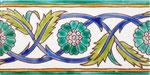 Orientalische Fayencen, keramische Wandfliese // Dekor: Palmyre F 10x20 cm