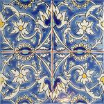 Orientalische Fayencen, keramische Wandfliese // Dekor: BAGHDAD 20x20 cm