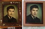 Restauración de marcos con fotografías de los años 50.