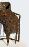 Die Sitzende, 2011 Eisen, Schweißdraht