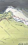 Gipfelgemisch (Det.), 2010 Acryl, Kreide auf Holz